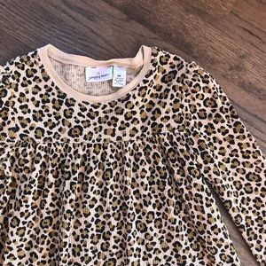 Jumping Beans girl's leopard print thermal tee
